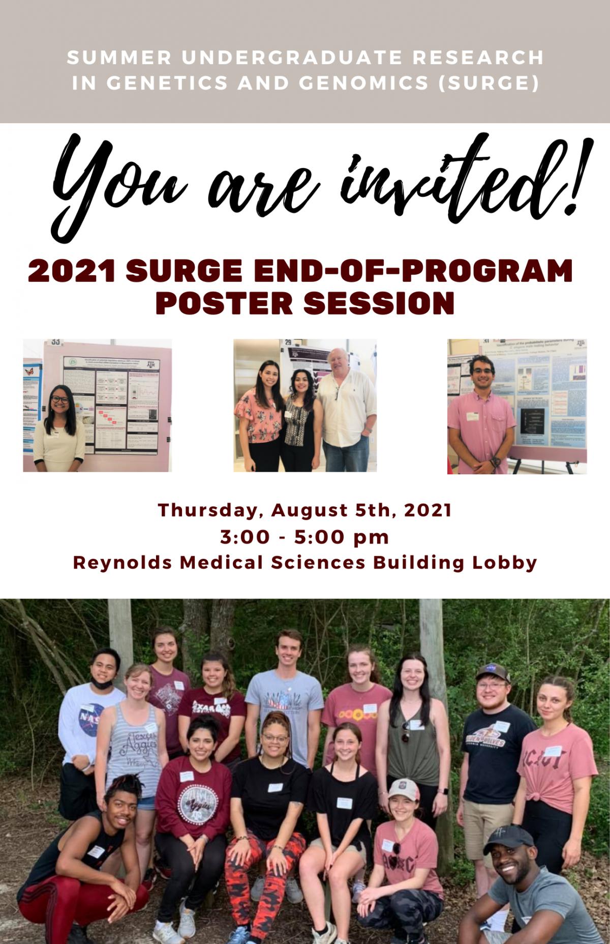 2021 Summer Undergraduate Research in Genetics and Genomics (SURGe)